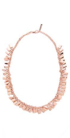 Eddie Borgo Small Padlock Spray Necklace #rosegold