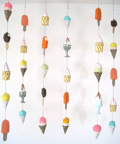 Mini Ice Cream Mobile by jikits on Etsy