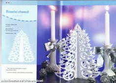 RUČNÍ PRÁCE - papírové filigrány 2 - vánoční zimní vystřihovánky (dohromady 7 vzorů)