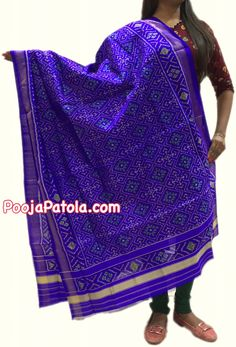 www.poojapatola.com #RAJKOT #PURE #SILK #HANDLOOM #PATOLA #DUPATTA 100% Pure Silk With SILK MARK LABEL. For purchase enquiries, contact us on info@poojapatola.com or call/whatsapp on +91 94081-81223