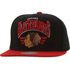 Mitchell And Ness Chicago Blackhawks Stadium Snapback Cap (black   red) ab0686c6ee8