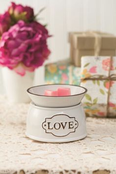 How beautiful is this? I had a few customers order it at my last party and love the simple classic look. www.scentsandsongs.scentsy.us