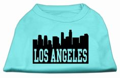 Mirage Pet Products 20-Inch Los Angeles Skyline Screen Print Shirt for Pets, 3X-Large, Aqua >> Special dog product just for you. See it now! : Dog Shirts