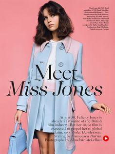 Felicity Jones by Alasdair Mc Lellan for UK Vogue February 2014 1