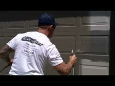▶ Preparing A Garage Door To Spray With An Airless Sprayer. How To Mask The Door. - YouTube