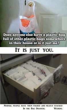 Plastic Bags Ordered The Right Way