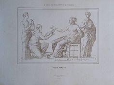 aus 1875 Zeichnung von Giulio Romano  - Fotolithographie old print #2