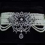 woven pearl choker Decadence Collection, by Marina J