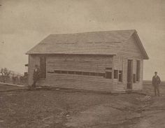 The Bender house where the Bender family murdered  and buried their victims, Labette County, Kansas, 1873.