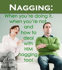 Nagging can be toxic in a marriage. And nobody appreciates a nagging wife! But do only women nag? And is bringing up a problem nagging? Read on! Marriage Relationship, Happy Marriage, Marriage Advice, Love And Marriage, Relationships, Proverbs 31 Wife, Passionate Couples, I Love My Hubby, Marriage Problems