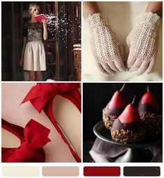 {pretty palette} ruby + winter white