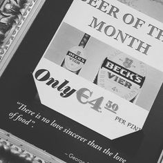 """""""There is no love sincerer than the love of food."""" For the people who loves beers!  #oncesaid #dublin #cassidyshotel #january2017👣 #beer #ireland #irland"""