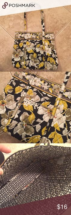 Vera Bradley Tote Bag Purse This is almost brand new and in 10/10 condition. The size is great and has a cute pocket on the front! Authentic Vera Bradley tote. MEASUREMENTS: 13 inches in width and 11 inches in height. Comes from a non smoking home. Vera Bradley Bags Totes