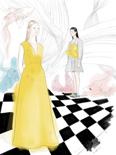 Del Pozo waterworld - Małgorzata Iracka Fashion Illustration @malgorzatairacka