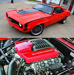 "Vintage Cars Muscle 1969 Camaro ""Lou's Change"" - This Restomod 1969 Camaro called ""Lou's Change"" was built by Speed Chevrolet Camaro, Chevy Camaro, Corvette, Camaro 1969, Custom Muscle Cars, Chevy Muscle Cars, Custom Cars, Lamborghini, Ferrari"