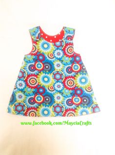 A personal favorite from my Etsy shop https://www.etsy.com/listing/236587465/reversible-dress-age-12-18-months-girls
