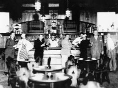 """""""The 21 Club"""" in Manhatten. Swankiest Prohibition speakeasy that opened in 1929. Still exists today."""