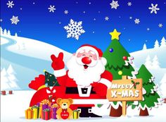 Santa Claus Merry Christmas Wallpaper Videos Pictures