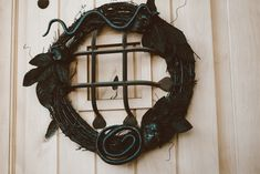 DIY Black Wreath