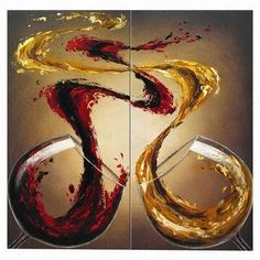 Hand Painted Modern Red Wine Fantasy Dancers Oil Painting,Newest ...