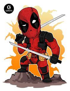 Deadpool - Chibi Art by Gregory Indrakusuma (Gerota)