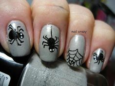 DIY halloween nails: DIY Halloween nail art : Halloween  Challenge - Spider
