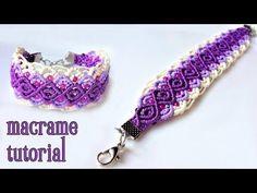 Macrame bracelet tutorial: The purple sunset - YouTube