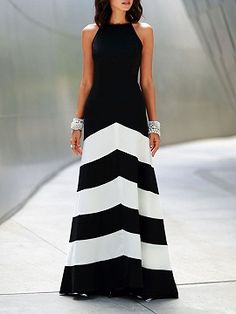Shop for the Black Stripe Panel Cross Strap Back Maxi Dress online now.Choies.com offer the latest fashion women Dresses at cheap prices with free shipping.