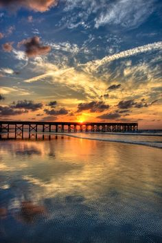 glorious lowcountry sunrise over Isle of Palms, South Carolina.