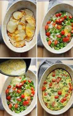 A quick & easy way to use up leftover scalloped potatoes...