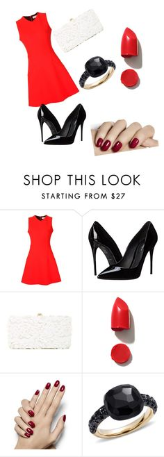 """""""Kitty cat claws"""" by lexilovely ❤ liked on Polyvore featuring Victoria Beckham, Dolce&Gabbana, Deux Lux, NARS Cosmetics, Pomellato and vintage"""