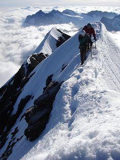 EIGER summit ridge, SWITZERLAND
