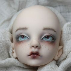 This listing is for a BJD face-up- you provide the doll head. I am not offering these particular dolls for sale. Clay Dolls, Bjd Dolls, Realistic Dolls, Doll Painting, Dolls For Sale, Doll Tutorial, Creepy Dolls, Doll Repaint, Doll Maker
