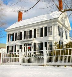 1837 Federal, Stonemore House, or Harriet Beecher Stowe House, Brunswick Maine. Home to the author while her husband worked at Bowdoin College. It was here that she wrote Uncle Tom's Cabin between 1850-1852.