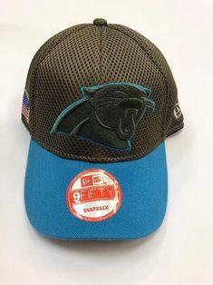 e37e8080a NFL BRAND NEW Carolina Panthers Salute to Service New Era Curved Hat Salute  To Service