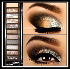 Urban Decay Naked 2 Palette, smokey eye - Awesome Makeup