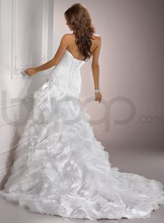 Image detail for -... And Tulle Sweetheart Neckline Fit And Flare A-line Wedding Dress