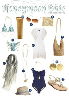 Honeymoon Essentials for a tropical getaway, like Maui Honeymoon Essentials, Honeymoon Packing, Honeymoon Style, Honeymoon Vacations, Honeymoon Outfits, Hawaii Honeymoon, Vacation Style, Vacation Outfits, Travel Style