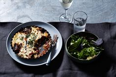 Vegetarian lentil and eggplant moussaka