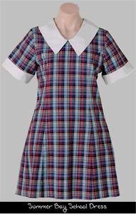 checked collor dress