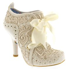 Womens Irregular Choice Abigail's Third Party High Heels Party Lace Up - Cream - 10