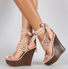 $34 Nude Wedges