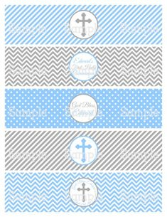 Printable M2M Boy's First Holy Communion Water Bottle Label Wrappers | aMerAZNStyLe - Digital Art  on ArtFire