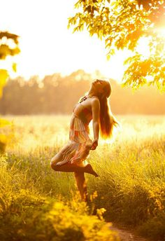 The soft glow of the sun on your body