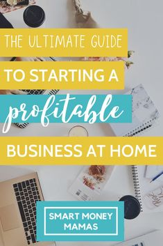 The ultimate guide to starting a profitable business from home for stay at home moms, students, and parents. Get all the details in this awesome guide and start earning extra money now. Start A Business From Home, Home Based Business, Work From Home Jobs, Starting A Business, Business Tips, Successful Business, Business Planning, Online Business, Earn Money From Home