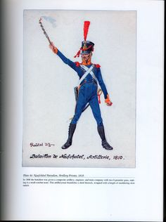 Foreign Troops: Plate 46: Neufchâtel Battalion, Artillery Private, 1810.