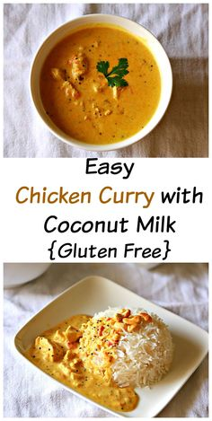 An easy chicken curry in a coconut milk that you can prepare in less than 30 minutes. It's delicious, healthy and gluten free too !
