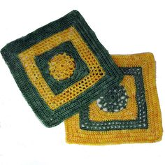 """Ravelry: Picots and Lace - 8"""" square pattern by Melinda Miller"""