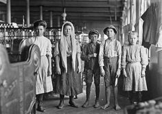 lewis hine photographs | Spinners and doffers in Lancaster Cotton Mills. Dozens of them in this ...