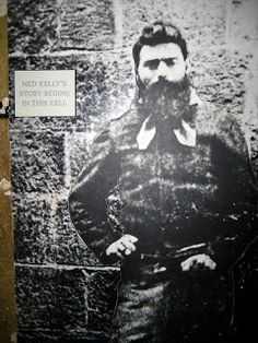 A prison photo of Ned Kelly